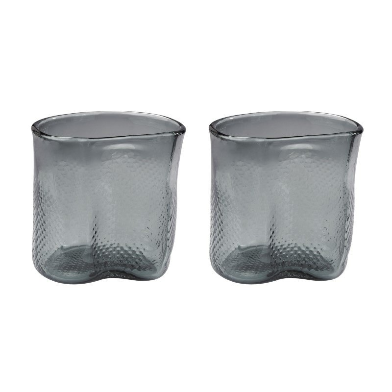 Dimond Home Fish Net Glass Vases in Grey (Set of 2) (154-013/S2)