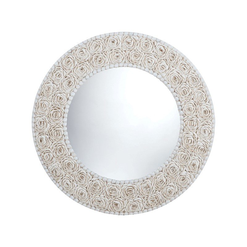 Dimond Home Floral Pattern Clam Shell Framed Mirror (7163-047)