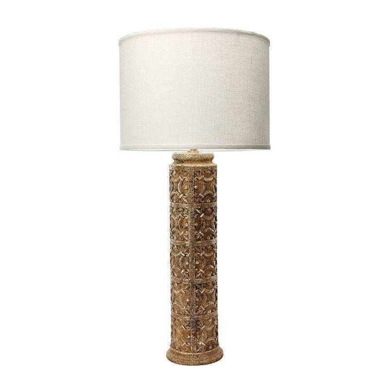 Dimond Home Fluer De Lis 1 Light Table Lamp in Aged Stone (112096)