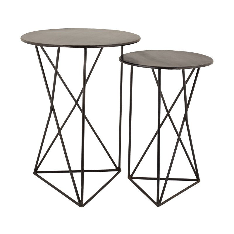 Dimond Home Geometric Metal Accent Tables (8985-052/S2)