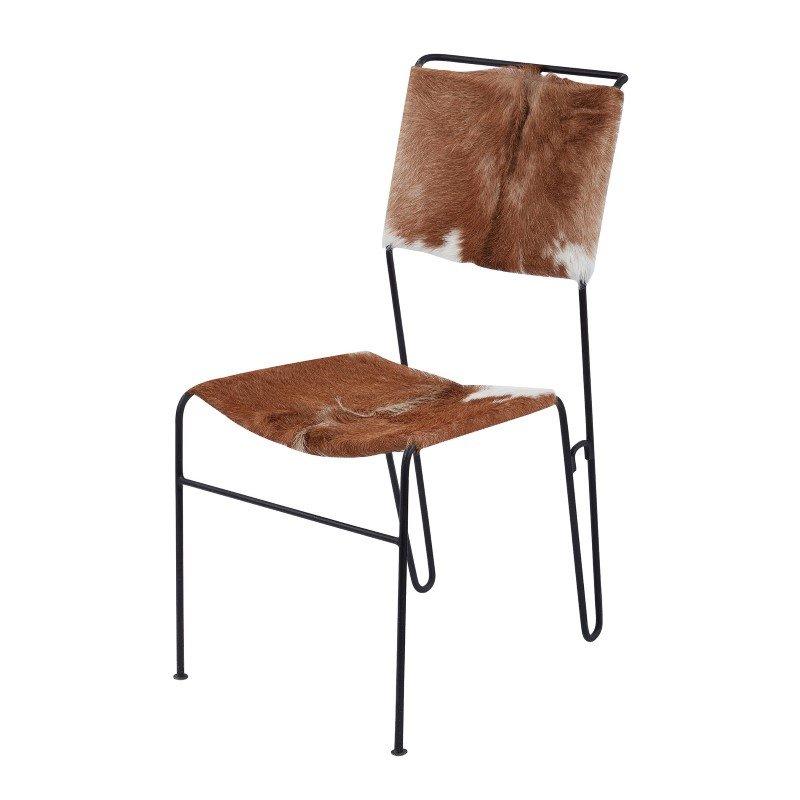 Dimond Home Goatskin Tuft Side Chair (161-004)