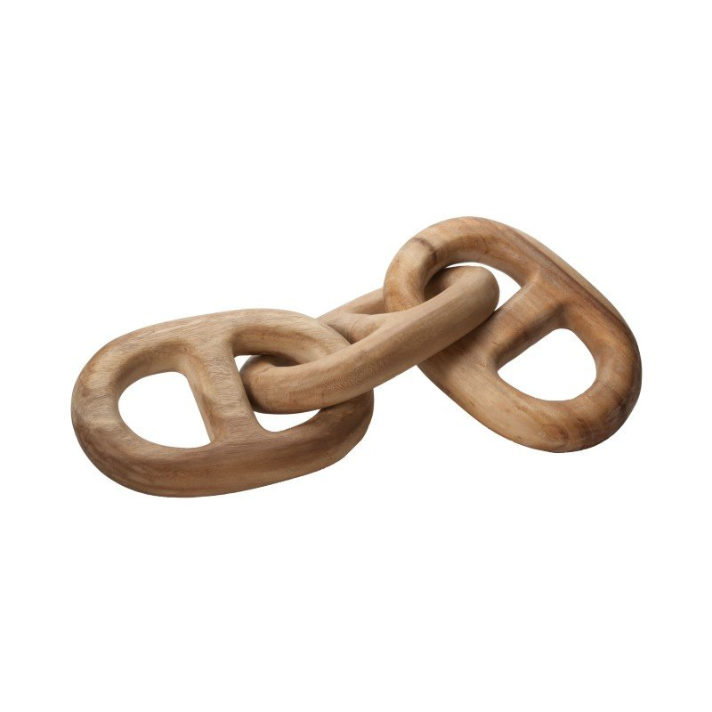 Dimond Home Hand Carved 3-Link Decorative Wooden Chain (950005)