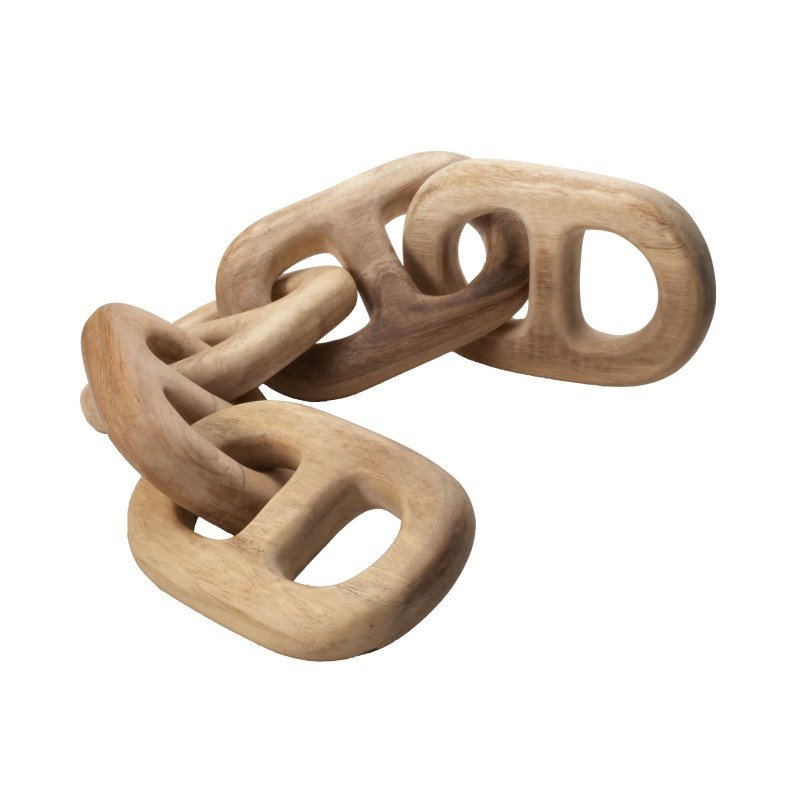 Dimond Home Hand Carved 5-Link Decorative Wooden Chain (950006)