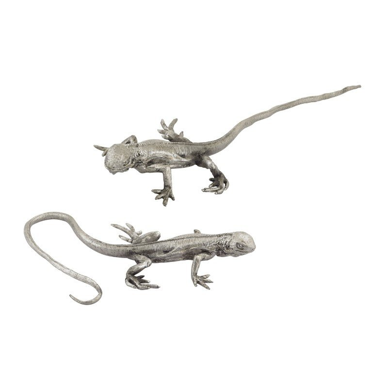 Dimond Home Hand Forged Long Tail Silver Lizard (165-006/S2)