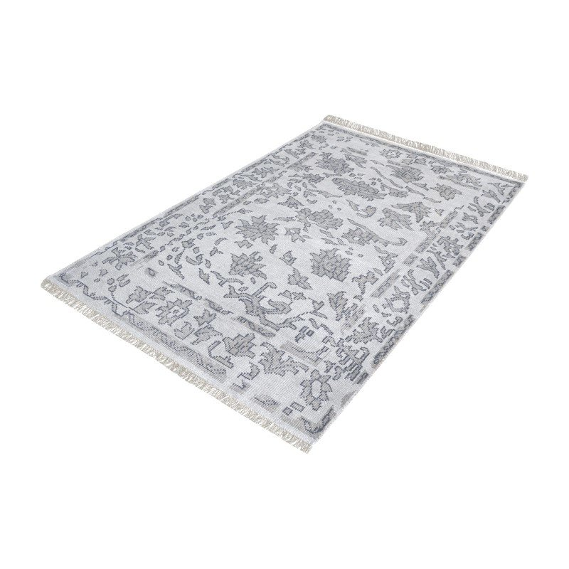 Dimond Home Harappa Handknotted Wool Rug in Grey - 5ft x 8ft (8905-271)