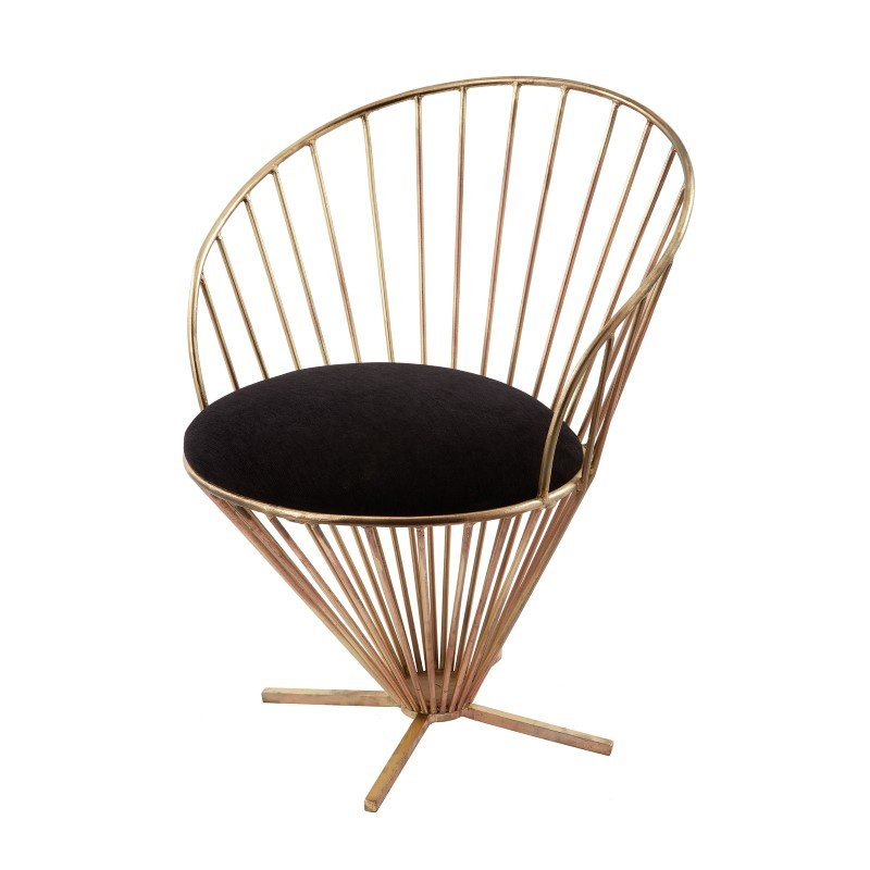 Dimond Home Iron Taper Wire Chair in Gold And Black (985-001)