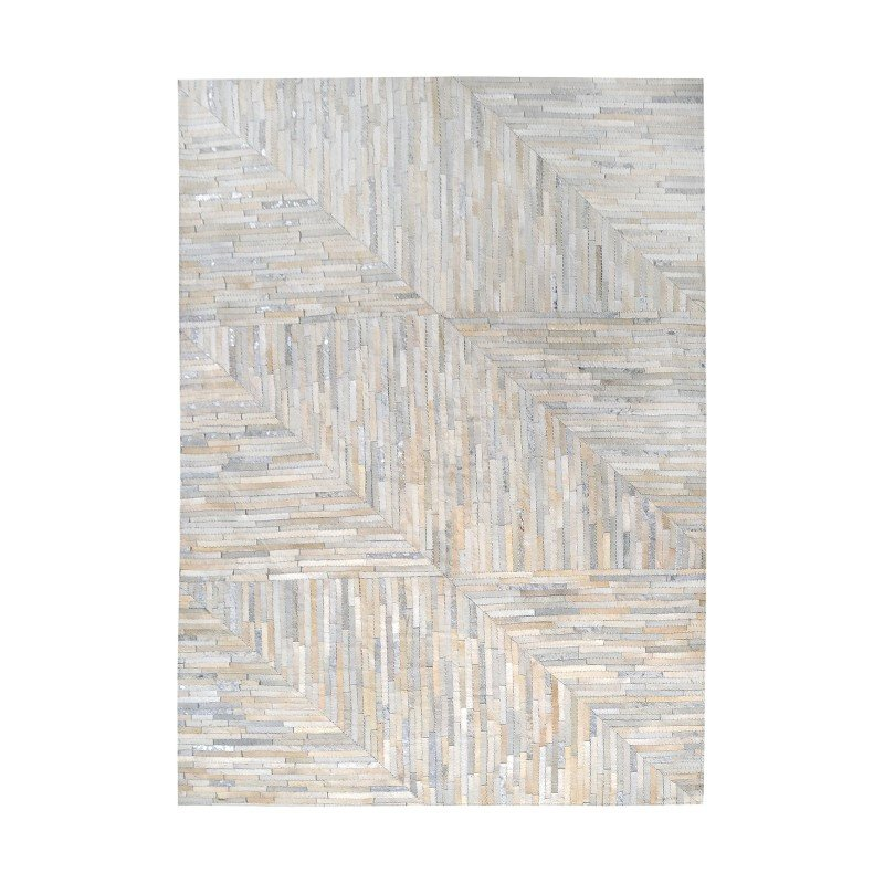 Dimond Home Karim Hand Stitched Leather Patchwork Rug 108x144 (8905-363)