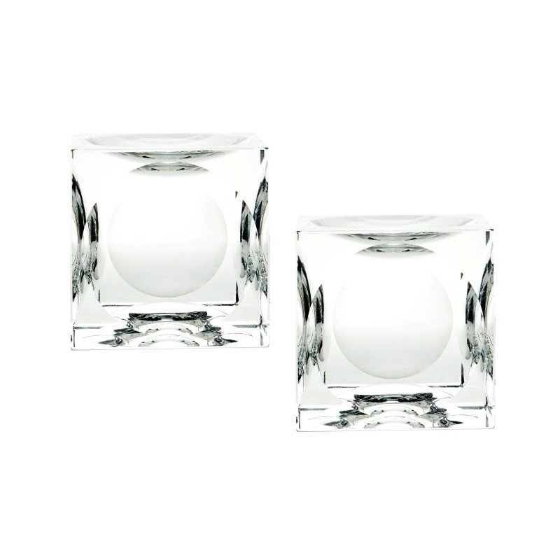 Dimond Home Large Dimpled Crystal Cubes (Set of 2) (980017/S2)