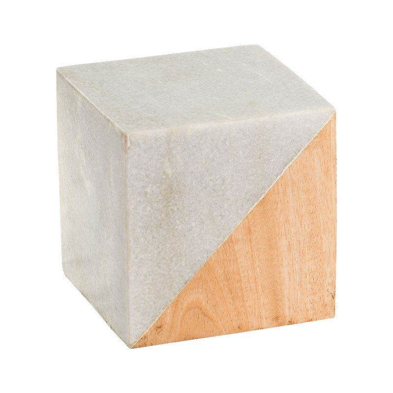 Dimond Home Large Marble And Wood Split Cube (8989-014)
