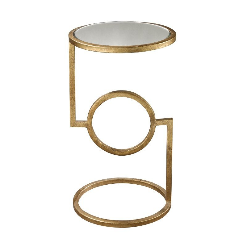 Dimond Home Mirrored Top Hurricane Side Table (114-108)