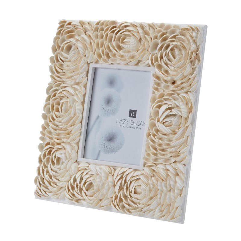 Dimond Home Natural Shell Flower Pattern 5x7 Frame (163-011)