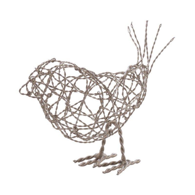 Dimond Home Nickel Scribble Bird - Large (559011)