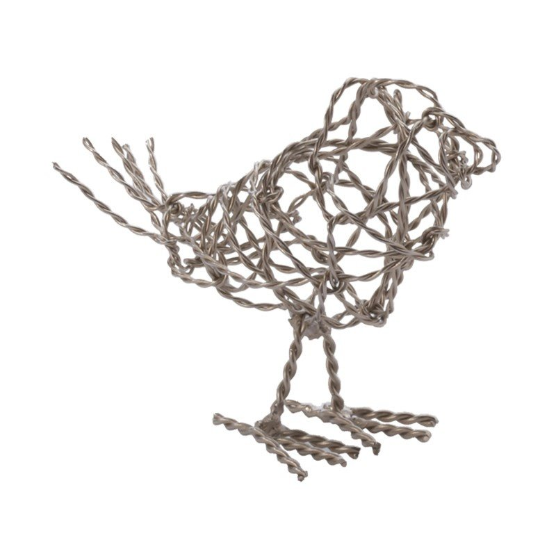 Dimond Home Nickel Scribble Bird - Small (559010)