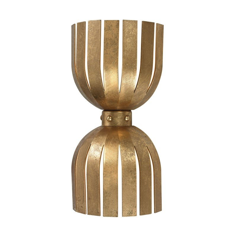 Dimond Home Olympia Double Wall Sconce in Gold Leaf (114-141)