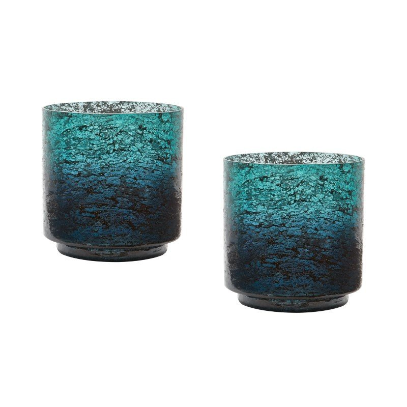Dimond Home Ombre Hurricanes in Emerald (Set of 2) (876028/S2)