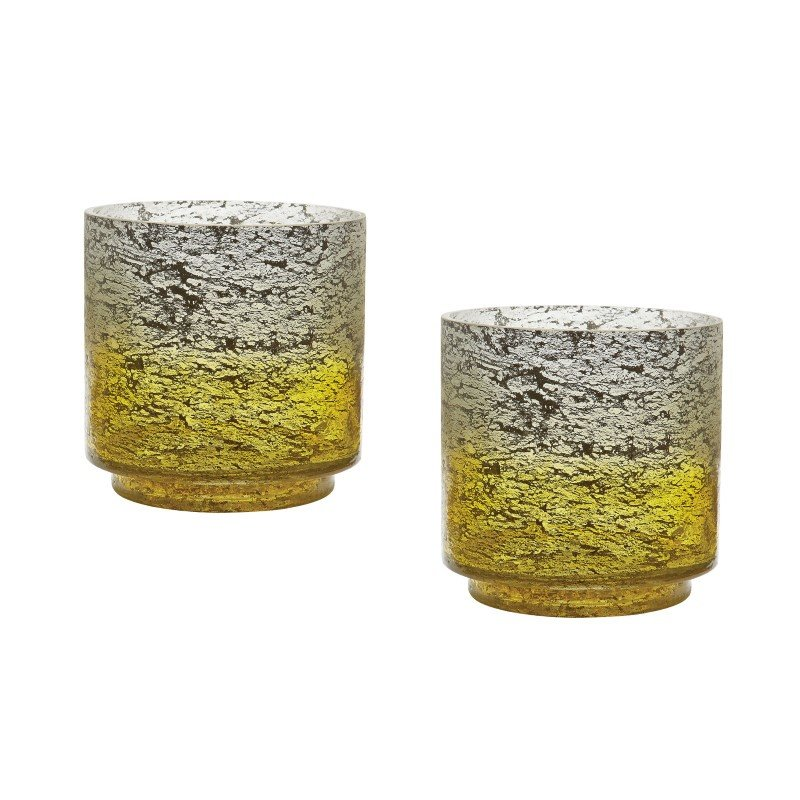 Dimond Home Ombre Hurricanes in Lemon (Set of 2) (876029/S2)