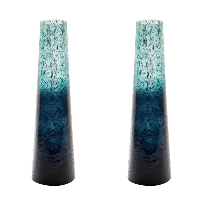 Dimond Home Ombre Snorkel Vases in Emerald (Set of 2) (876034/S2)