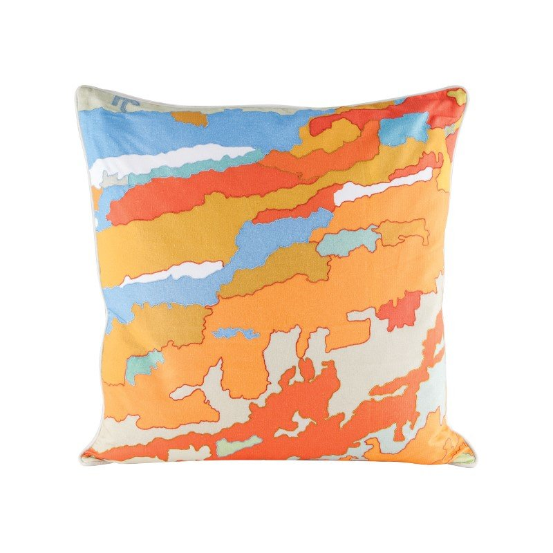 Dimond Home Orange Topography Pillow With Goose Down Insert (8906-007)