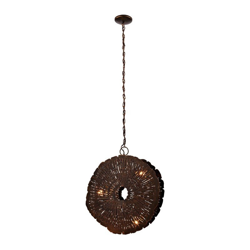 Dimond Home Organic Metal Etched Disk Chandelier (468-051)