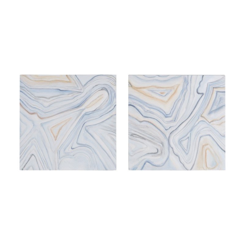 Dimond Home Pastels Agate Handpainted Wall Art (7011-199/S2)