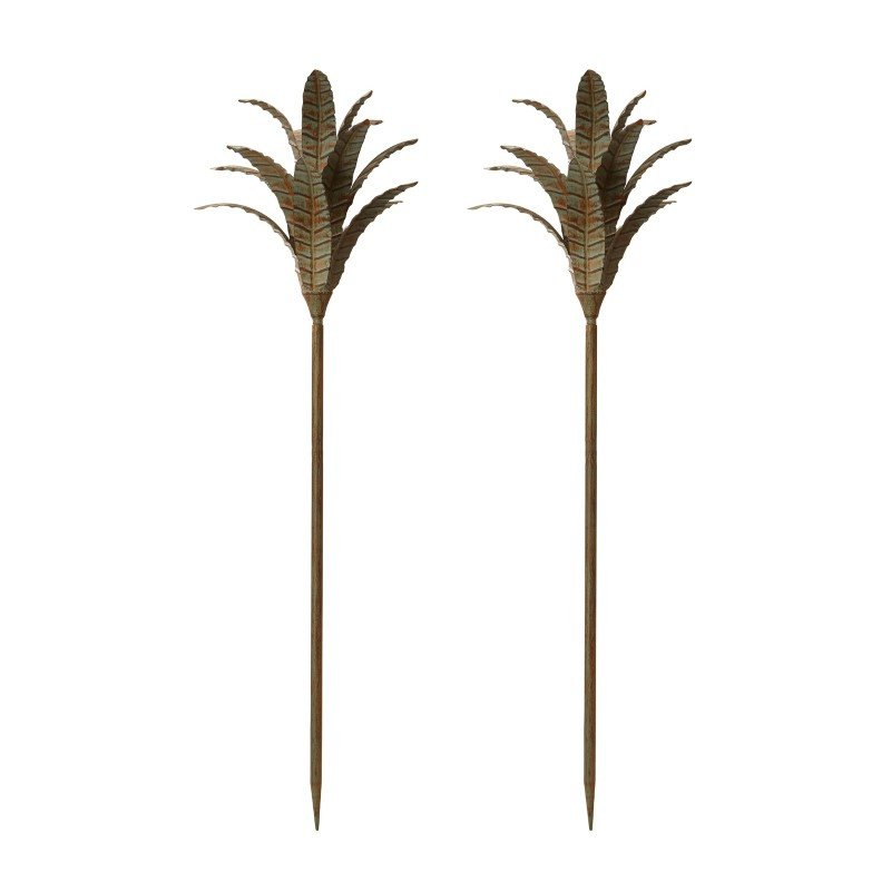 Dimond Home Patina Iron Leaf Stem (Set of 2) (594044/S2)