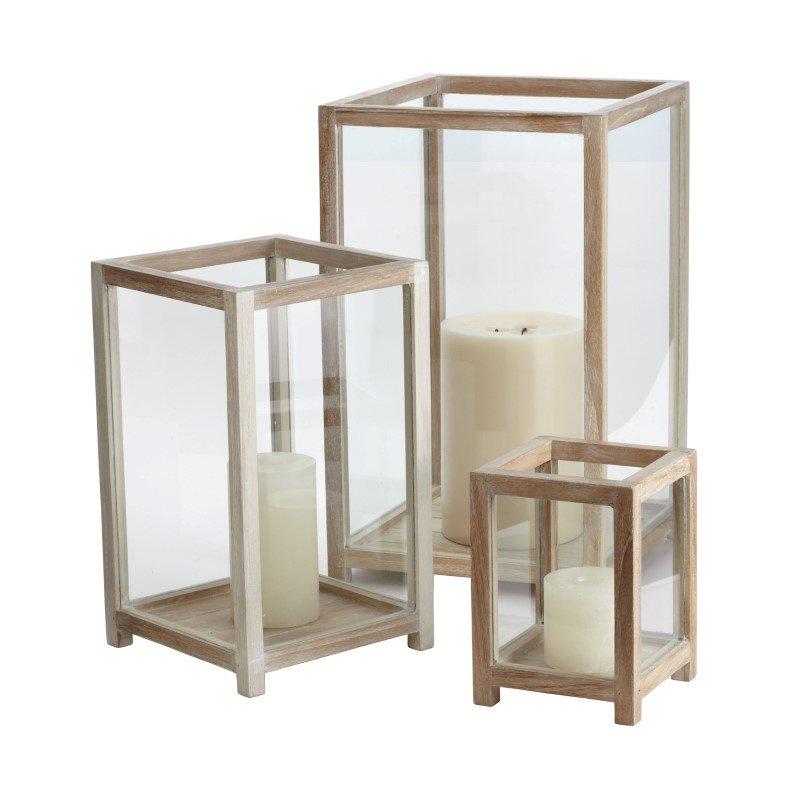 Dimond Home Pepper Wood Box Hurricanes (Set of 3) (784054)
