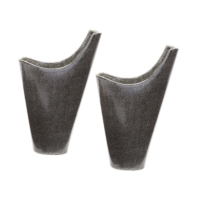 Dimond Home Reaction Filled Vases in Grey (Set of 2) (857124/S2)