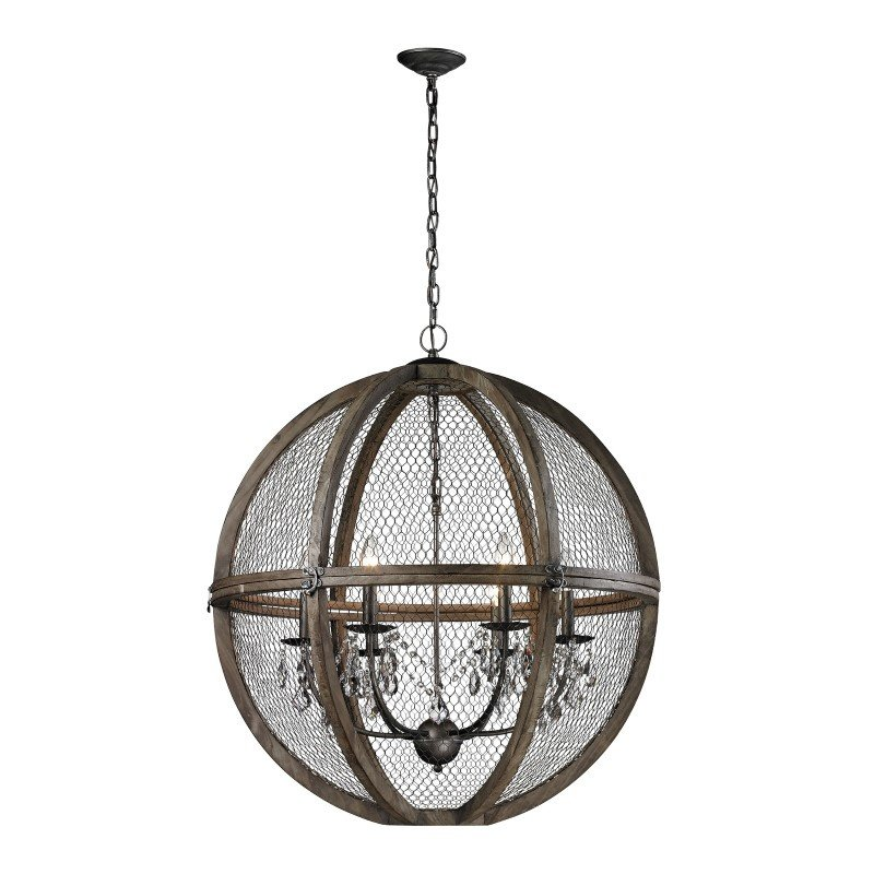 Dimond Home Renaissance Invention Wood And Wire Chandelier - Large (140-008)