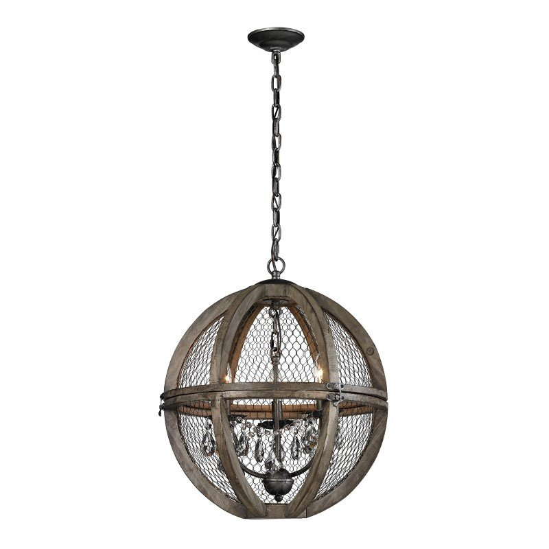 Dimond Home Renaissance Invention Wood And Wire Chandelier - Small (140-007)