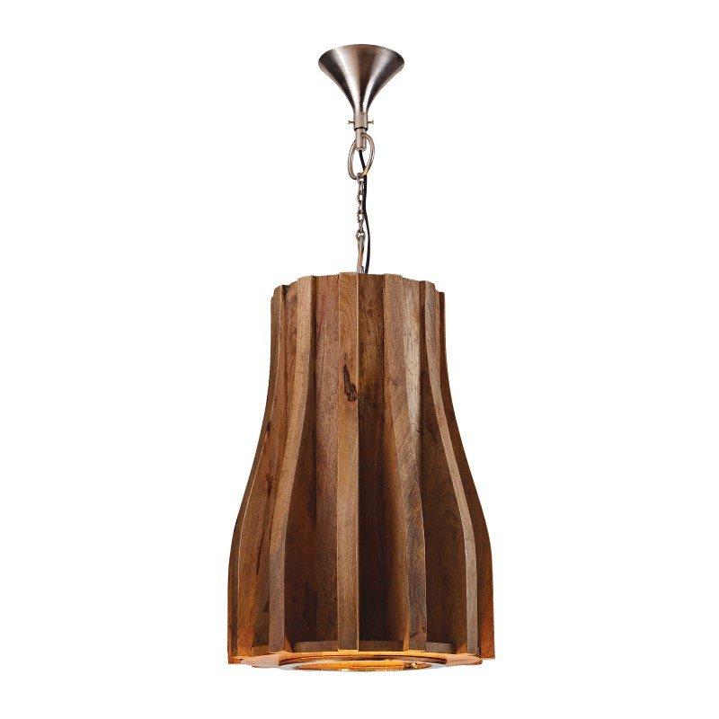Dimond Home Retro 1 Light Pendant in Natural Mango Wood (985-018)