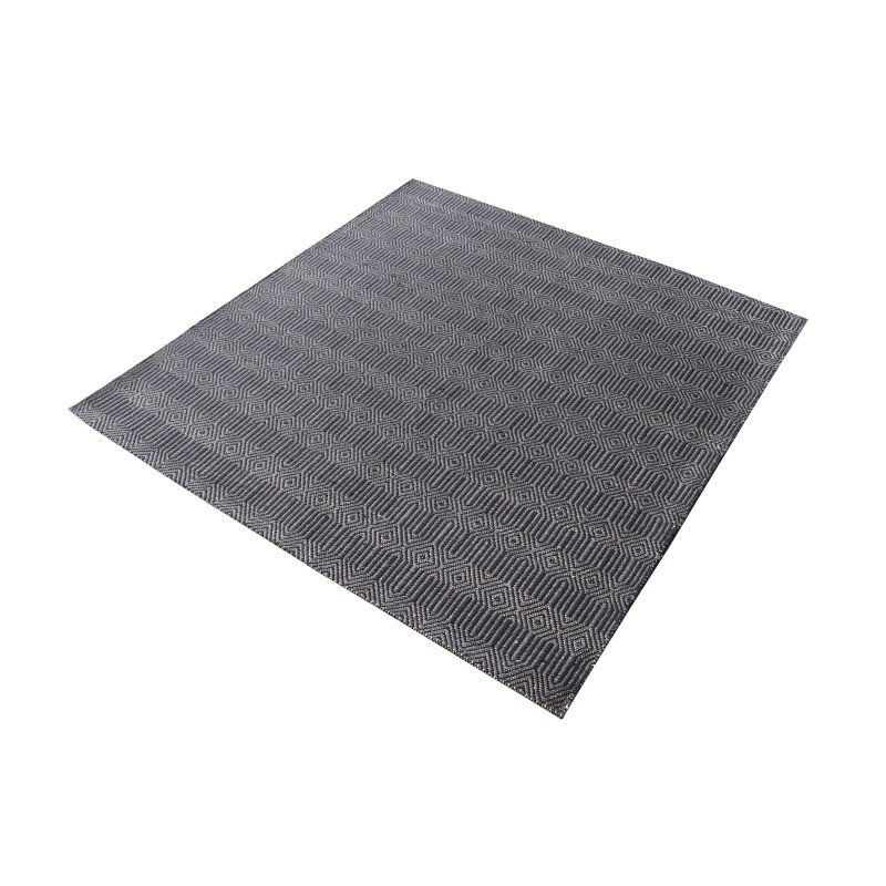 """Dimond Home Ronal Handwoven Cotton Flatweave in Charcoal - 16"""" Square (8905-094)"""