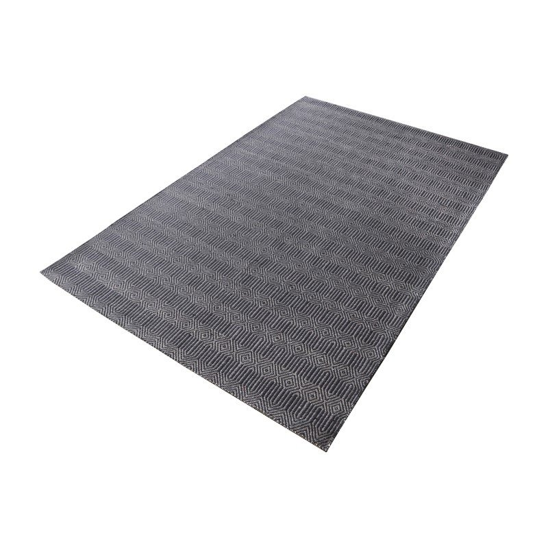 Dimond Home Ronal Handwoven Cotton Flatweave in Charcoal - 8ft x 10ft (8905-092)