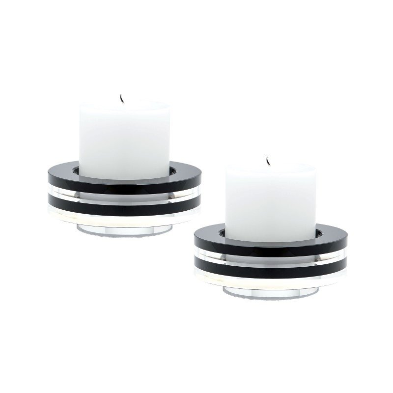 Dimond Home Round Tuxedo Crystal Candleholder - Set of2 (980025/S2)