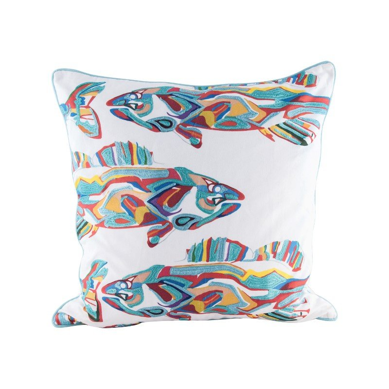 Dimond Home School of Fish Pillow With Goose Down Insert (8906-004)