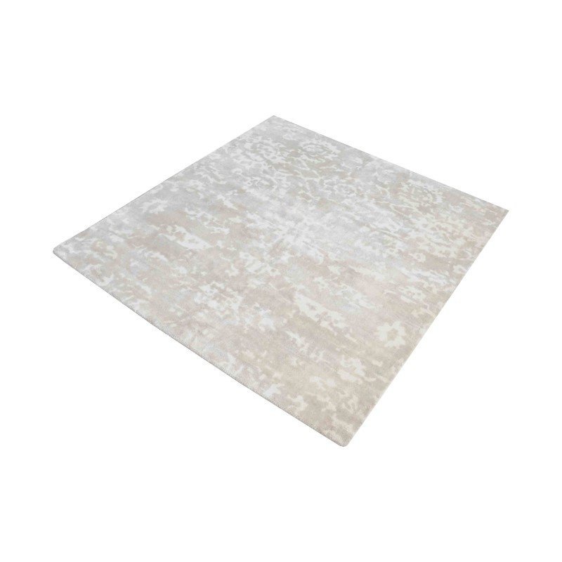 """Dimond Home Senneh Handwoven Wool Printed Rug in Beige And White - 6"""" Square (8905-215)"""
