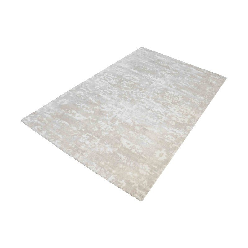 Dimond Home Senneh Handwoven Wool Printed Rug in Beige And White - 8ft x 10ft (8905-212)