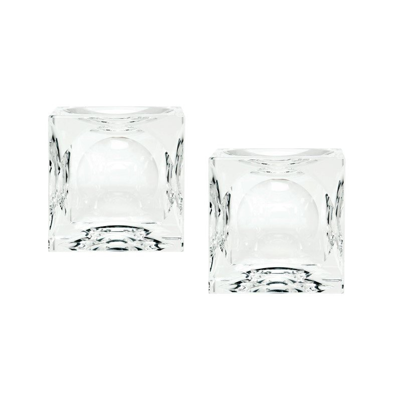 Dimond Home Small Dimpled Crystal Cubes (Set of 2) (980016/S2)