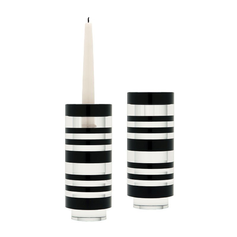 Dimond Home Small Sliced Tuxedo Crystal Candleholders (Set of 2) (980001/S2)