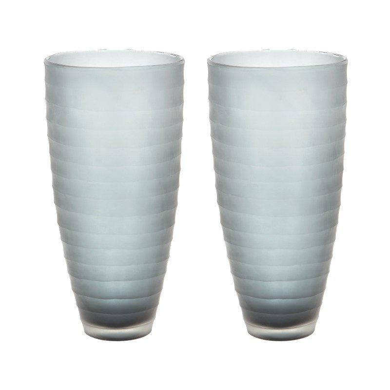 Dimond Home Smoke Matte Cut Vases (Set of 2) (464083/S2)