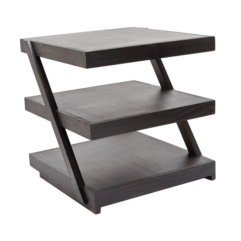 Dimond Home Stacked Black Teak Side Table (784060)