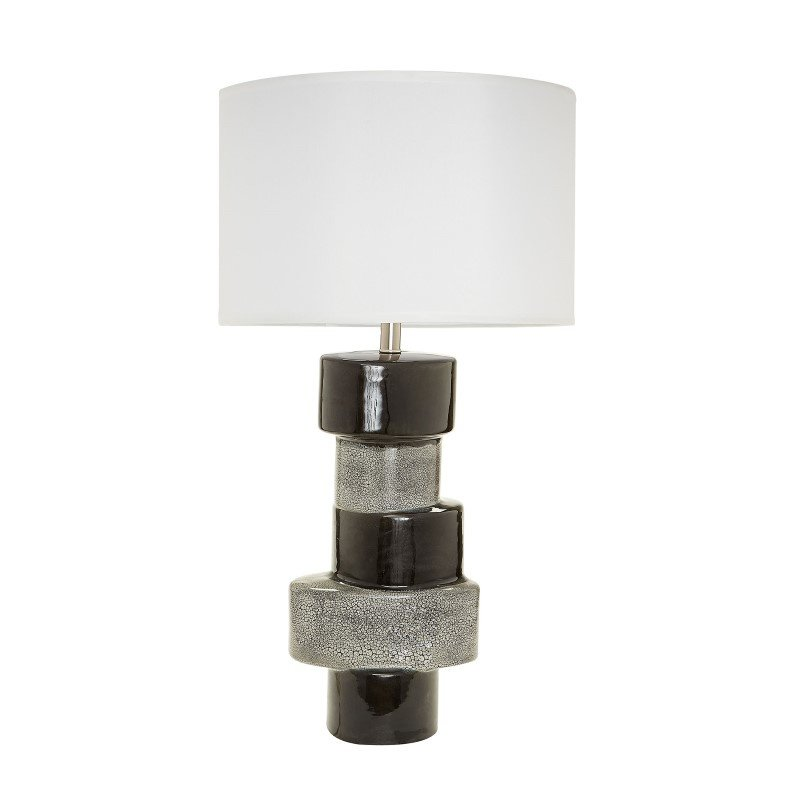 Dimond Home Stacked Oval Table Lamps in Gray And Black (857134)