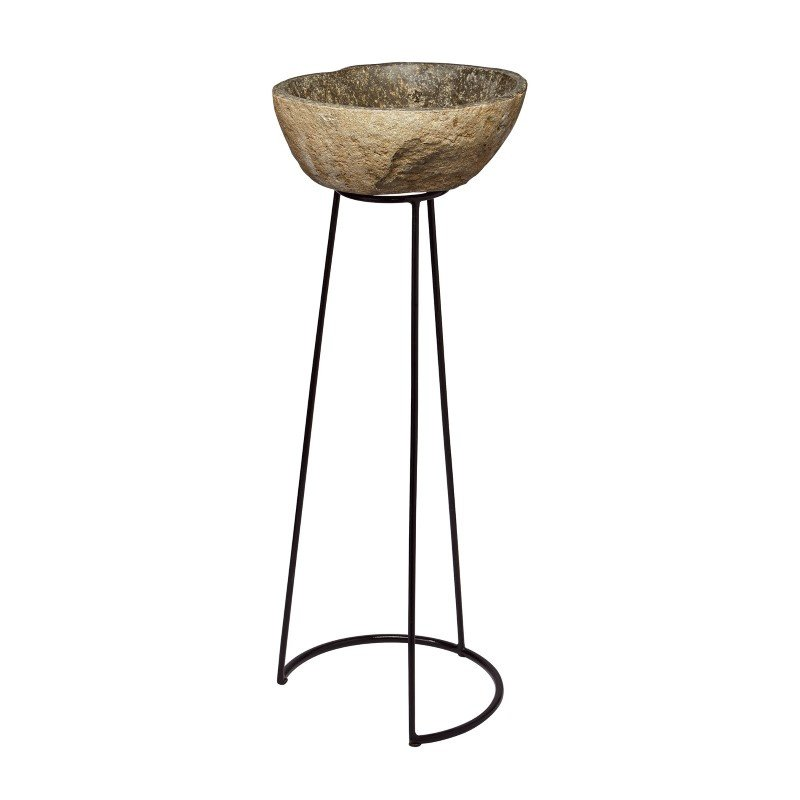 Dimond Home Stone And Wire Frame Pedestal (159-011)