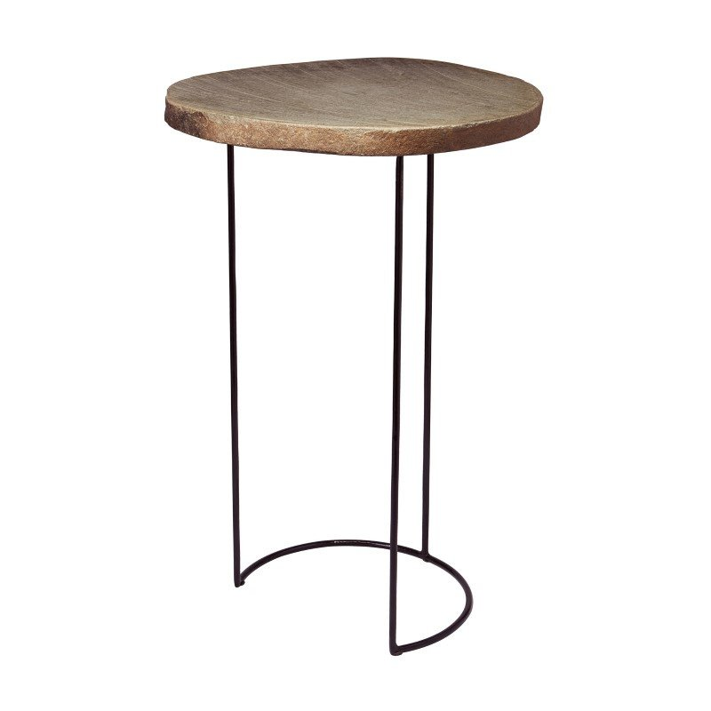 Dimond Home Stone Slab And Wire Frame Table (159-013)