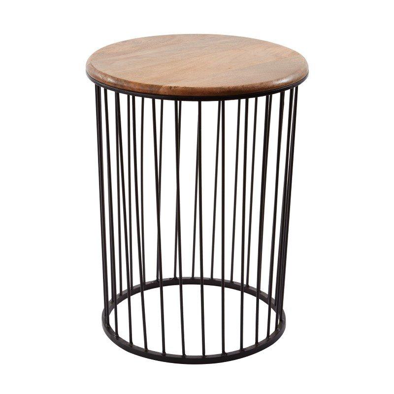 Dimond Home Teak And Metal Carousel Table - Tall (985-045)