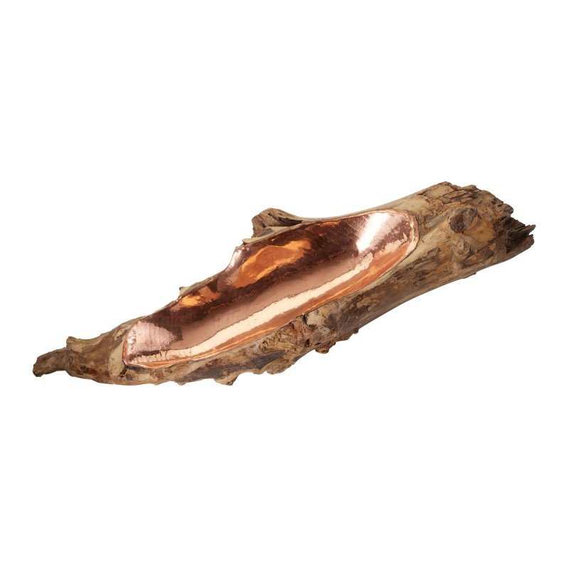 Dimond Home Teak Root Bowl with Copper Insert - Short (162-013)