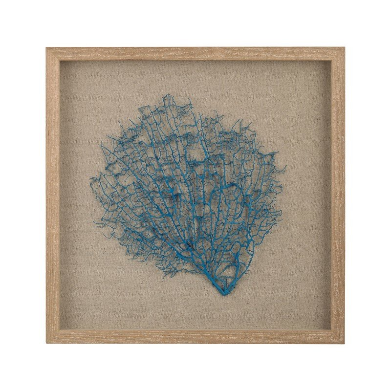 Dimond Home Turquoise Sea Fan On Natural Linen (3168-026)