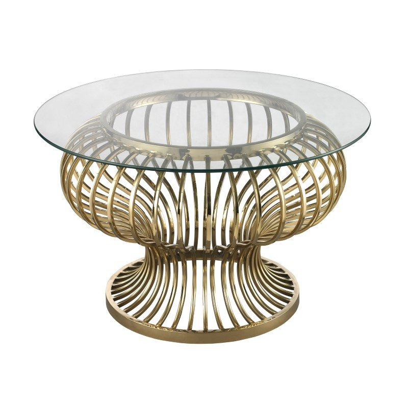 Dimond Home Undulating Gold Rod Coffee Table (114-137)
