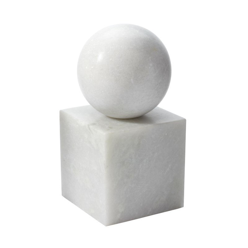 Dimond Home White Marble Minimalist Bookend (786021)