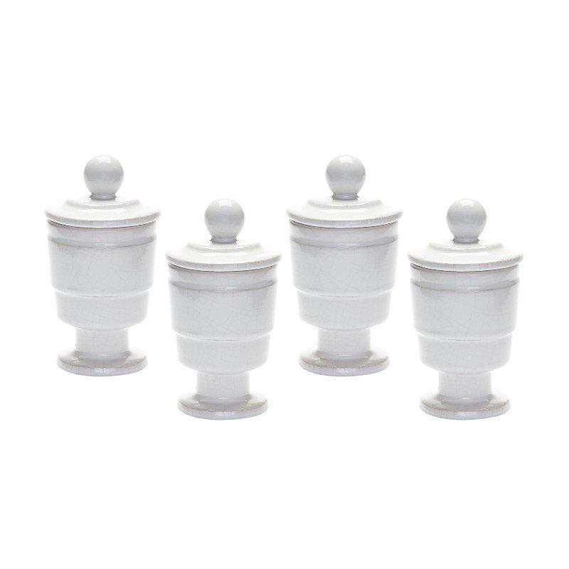 Dimond Home White Polar Filled Votive (Set of 4) (857118/S4)