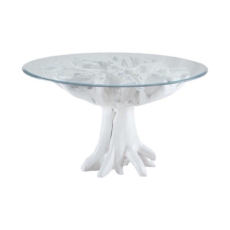 Dimond Home White Teak Root Entry Table (7011-004)
